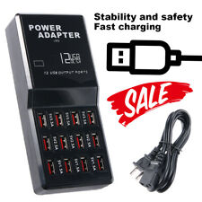 12 Port Usb Charging Station Hub Desktop Wall Cell Phone Charger Organizer In Us
