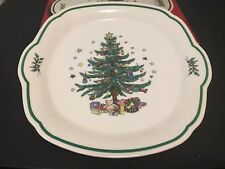 "Nikko Christmastime Serving Tray 10"" Platter Plate Christmas Tree"
