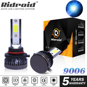 Mini 9006 HB4 LED Headlight Bulbs 120W DRL High/Low Beam 8000K Xenon Blue Lamp