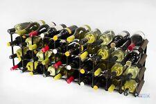 Cranville wine rack storage 30/40 bottle dark oak stain / black metal assembled