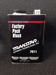 SUPER JET BLACK BASECOAT/CLEAR COAT FACTORY PACK BLACK CAR PAINT (GALLON)