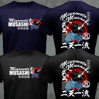 Japanese Samurai Miyamoto Musashi Niten Ichi Ryu Katana Kendo Bushido T-shirt