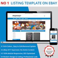 eBay Listing Template HTML Professional Mobile Responsive Design 2019 Universal