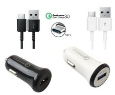Adaptive Fast Qualcomm QC 3.0 Car Charger with Type-C Cable for Motorola Devices