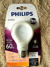Philips SlimStyle LED 10.5W Replaces 60w Lasts 22.8 Years! Soft White