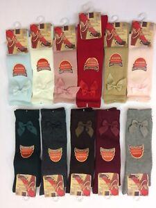 Romany Spanish Girls Knee High Bow Socks by Ysabel Mora Age Newborn to Age 6