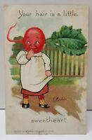 Radish Head Veggie People 1907 Fantasy Farm Lady Anthropomorphic Postcard