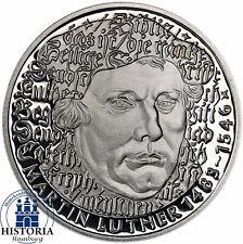 Deutschland 5 DM 1983 Martin Luther Spiegelglanz Gedenkmünze in Münzkapsel