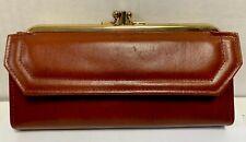 Vintage Ladies Wallet EK Leathergear Brown Leather Wallet
