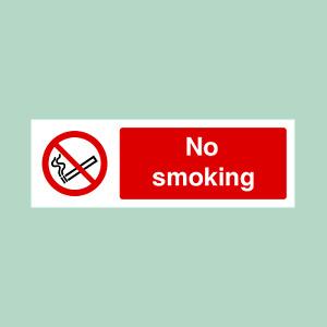No Smoking Plastic - All Materials - Sign / Sticker (PS6)