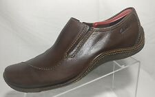 Clarks Brown Leather Moc Toe Gore Driving Loafers Casual Shoes Men UK 9 G US 10