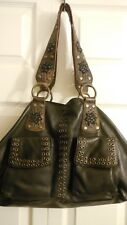 BETSEY JOHNSON STUDDED RHINESTONE LEATHER BLACK  PURSE HANDBAG