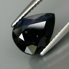 2.98 Carats Natural Midnight Blue SAPPHIRE for Jewelry Setting Pear Cut