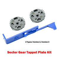 CNC Steel Double-Sector Gear Special Tappet Plate Upgrade Kit for Blaster Toy
