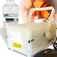 QTX 400W Fog Smoke Machine Inc Remote and Fogger Fluid with Glow Light Effects