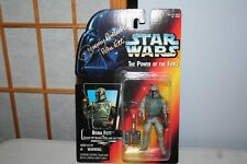 "Star Wars Autographed JEREMY BULLOCH BOBA FETT POTF Card 3 3/4"" Figure NEW"