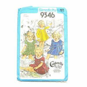 Factory Fold 1970s Vintage Dress Pattern Toddler Size 1 Simplicity 9346
