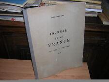 1944.journal de la France 1943/44.Fabre-Luce.N°. autographe.guerre 39-45