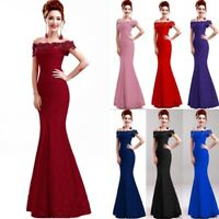 Long Evening Formal Party Dress Prom Ball Gown Bridesmaid Dresses Mermaid Lace