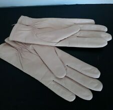 Vintage Fownes Leather Light Pink Ladies Driving Gloves Sz S
