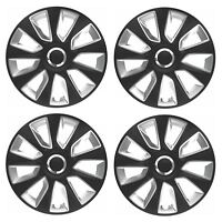"4 x Wheel Trims Strat Hub Caps 16"" Covers fits Vauxhall ASTRA CORSA AGILA MERIVA"