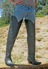 Made to order 34 inches tall boots sharp toe 4 inch high heels all calf leather
