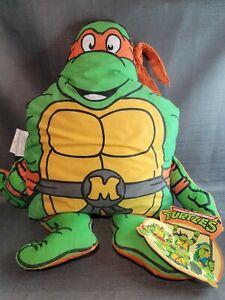 Vintage 90s Tmnt Ninja Turtle Michaelangelo Pillow Buddy Mirage Studios Plush WT