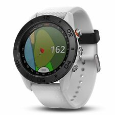 Garmin Approach S60 GPS Golf Watch White with White Silicone Band 010-01702-01