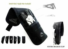2 POCKETS GERBER KNIFE POUCH/SHEATH FOR GERBER MP800,MP600,06 AUTO (POUCH ONLY!)
