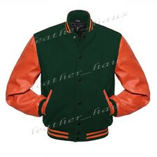 Superb Faux Leather Sleeve Letterman College Varsity Wool Jackets #OS-CLRS-BB