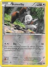 BUNNELBY 111/146 XY Base Set Reverse Holo Pokemon Card   EX