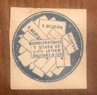SCOTT 37L1 U.S. Local Stamp (Cheever & Towle, Boston, Mass)  MH OG VF SCV $600.