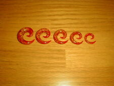 Yellow Swirl Glass Spiral Tapers 1 Pair 00g Red And