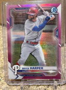 2021 Bowman Chrome Bryce Harper Pink Refractor /299 Philadelphia Phillies