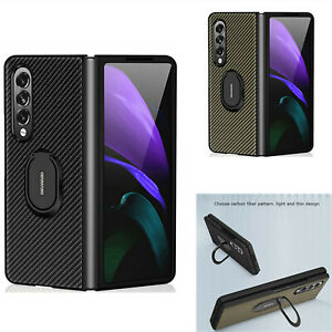 Phone Case Protective Shell Cover With  Ring Holder for Samsung Z Fold3 Phone