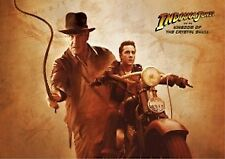INDIANA JONES MOVIE POSTER ~ KINGDOM CRYSTAL SKULL INDY MUTT WHIP 27x40 LaBeouf