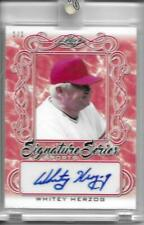 2020 Leaf Signature Series Sports WHITEY HERZOG Red Parallel 1/1 Autograph