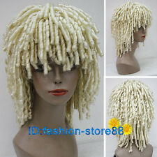 Dreadlock Style Blonde short Curls Rolls Hair Drama Cosplay Costume Wig