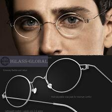 d1f77a7d01 Oval Titanium Vintage Ultralight Men Women Eyeglasses Frame -No screw  design 8g