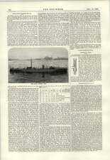 1889 Millefoglie standard TORPEDO barche di carbone e gas di commercio di Londra