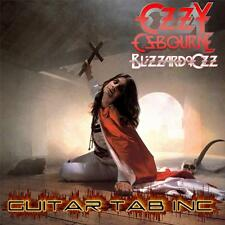 Ozzy Osbourne Digital Guitar Bass Tab BLIZZARD OF OZZ Lessons Disc Randy Rhoads