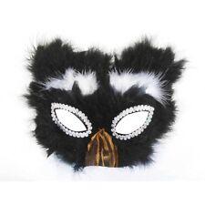 Cat Feather Half Mask Kitten Black Bird Animal Mardi Gras Halloween Costume Toy