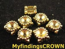 60 pcs Antiqued gold unique 2 holes spacers FC1036