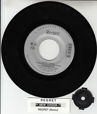 "NEW ORDER  Regret 7"" 45 rpm vinyl record + juke box title strip RARE!"