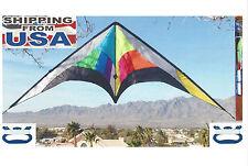 "Stunt Sport Kite Huge 102"" x 31"" Ripstop Nylon & Carbon Fiber Spars + Tube Tail"