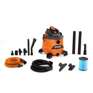Wet Dry Shop Vac 14 Gallon 6 HP Workshop Garage Premium Car Cleaning Vacuum Kit