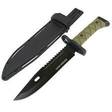 "13.5"" ARMY Black Tactical Survival FIXED BLADE HUNTING Bowie KNIFE w/ SHEATH NEW"