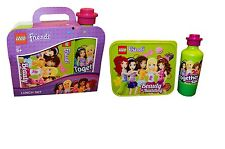 Lego Friends 'Lime Green' Lunch Box And Bottle Set Brand New Gift