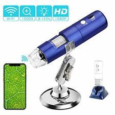 Microscopio Digital Wi-Fi ROTEK, WIFI USB Microscopio Cámara 2MP 1080P HD 1000x