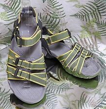 TEVA GREEN STRAPPY OPEN TOE SPORT SANDALS ANKLE STRAP COMFORT SHOES WOMENS SZ 5